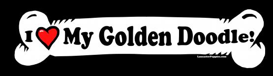 I love my Goldendoodle Dog Bone Sticker Free Shipping