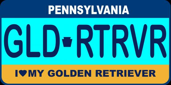 Golden Retriever License Plate
