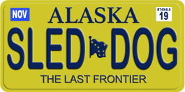 Alaskan Sled Dog License Plate