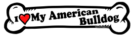 I love my American Bulldog Dog Bone Sticker Free Shipping