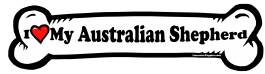 I love my Australian Shepherd Dog Bone Sticker Free Shipping