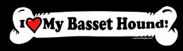 I love my Basset Hound Dog Bone Sticker Free Shipping