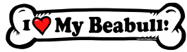 I love my Beabull Dog Bone Sticker Free Shipping