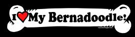 I love my Bernadoodle Dog Bone Sticker Free Shipping