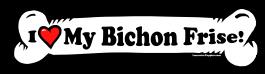 I love my Bichon Frise Dog Bone Sticker Free Shipping