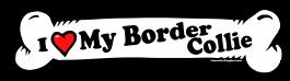 I love my Border Collie Dog Bone Sticker Free Shipping