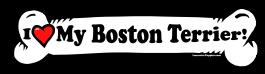 I love my Boston Terrier Dog Bone Sticker Free Shipping