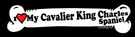 I love my Cavalier King Clarles Spaniel Dog Bone Sticker Free Shipping