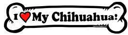 I love my Chihuahua Dog Bone Sticker Free Shipping