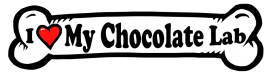 I love my Chocolate Lab Dog Bone Sticker Free Shipping