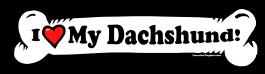 I love my Dachshund Dog Bone Sticker Free Shipping