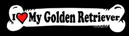 I love my Golden Retriever Pointer Dog Bone Sticker Free Shipping
