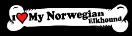 I love my Norwegian Elkhound Dog Bone Sticker Free Shipping