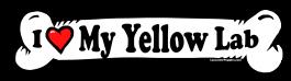 I love my Yellow Lab Dog Bone Sticker Free Shipping