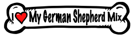 I love my German Shepherd Mix Dog Bone Sticker