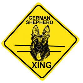 German Shepherd Crossing Sign Free Shipping