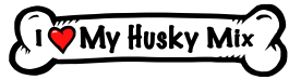 I love my Husky Mix Dog Bone Sticker