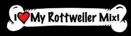 I love my Rottweiler Mix Dog Bone Sticker